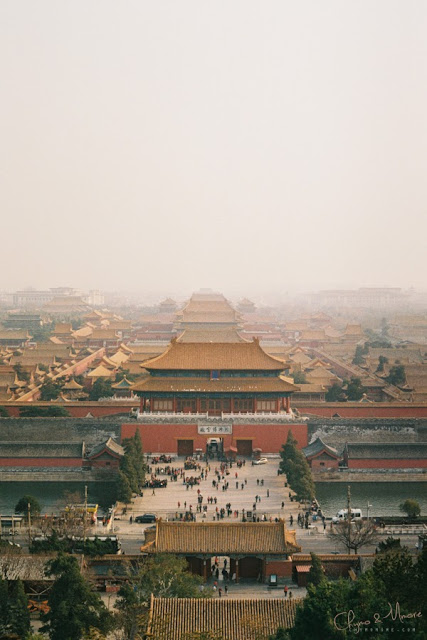 Jingshan (Mount-Jing) overlooking the Forbidden City