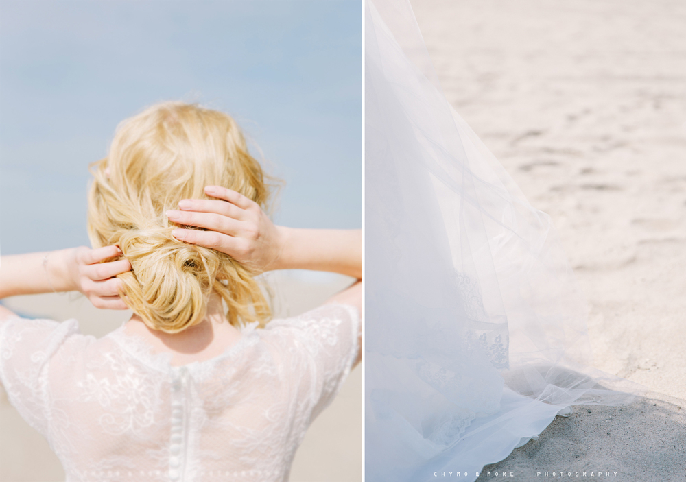 bridal gown details with lace - CHYMO & MORE Photography