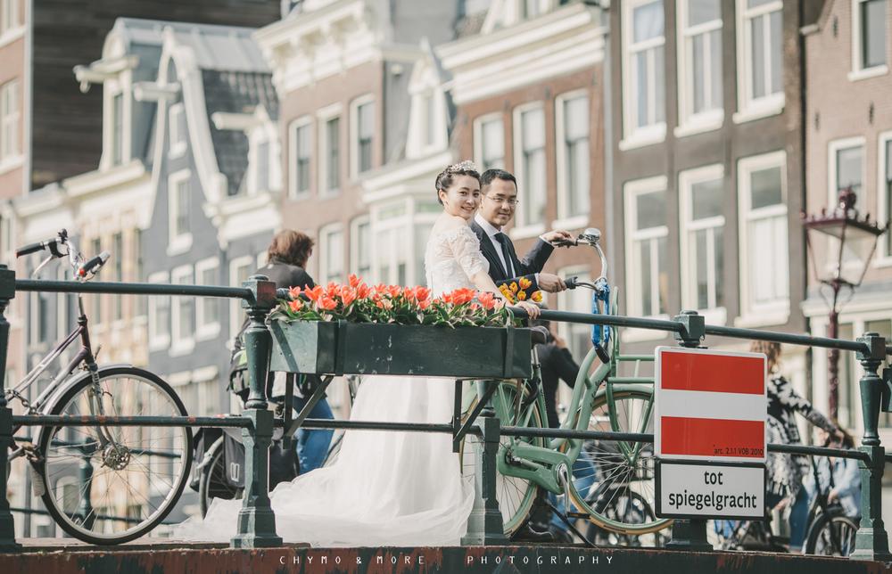 Bruidsfotografie Amsterdam Canal