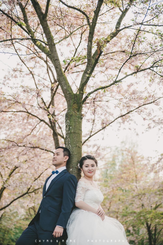 trouwen in het kersenbloesempark Amsterdam
