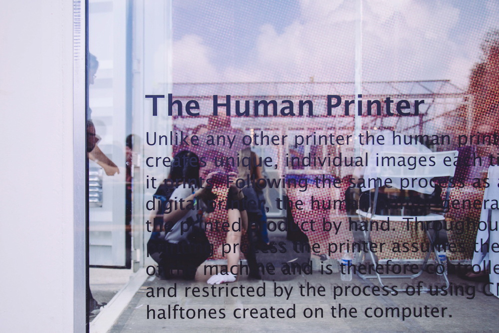 The human printer at Unseen Photo Fair Amsterdam 2014