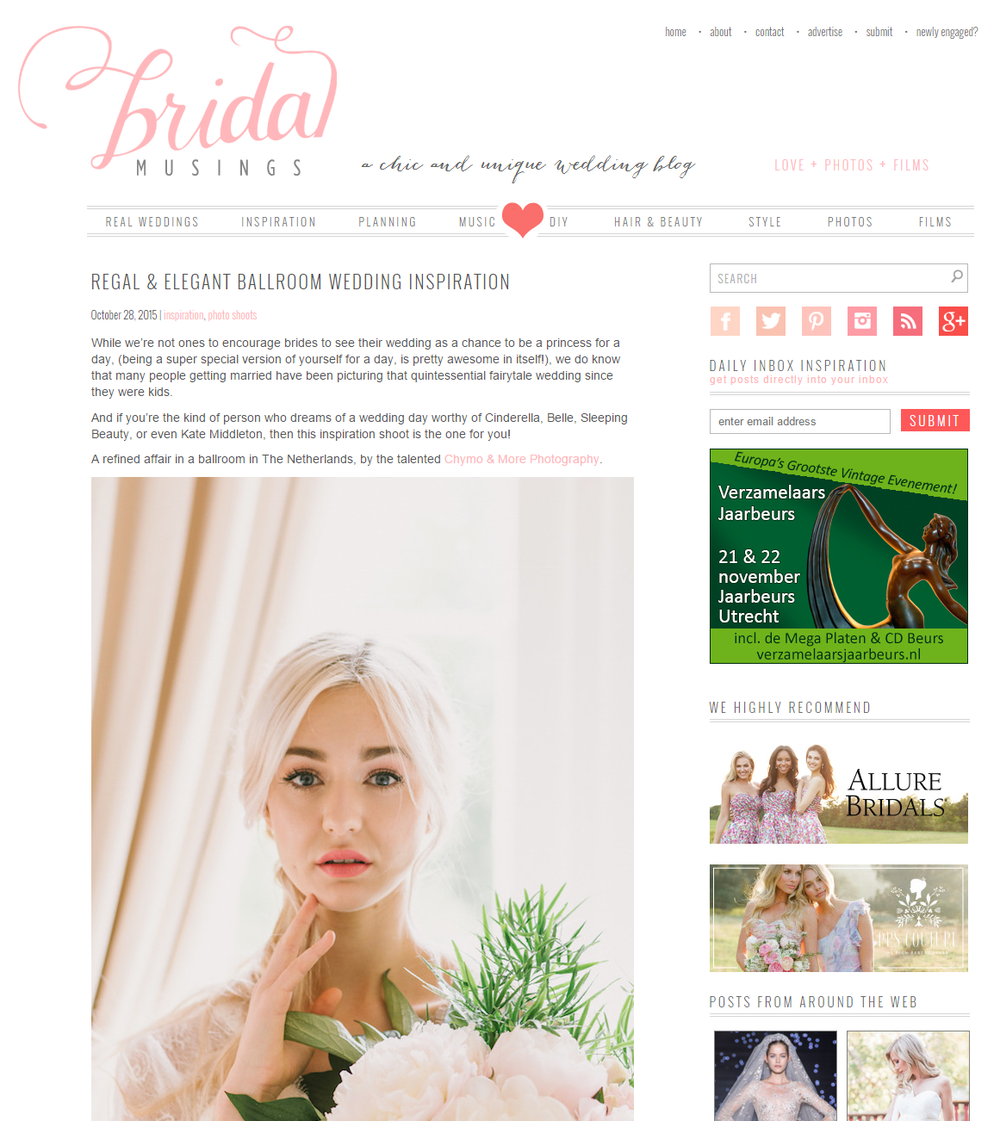 CHYMO & MORE fine art photography Netherlands - featured on Bridal Musings