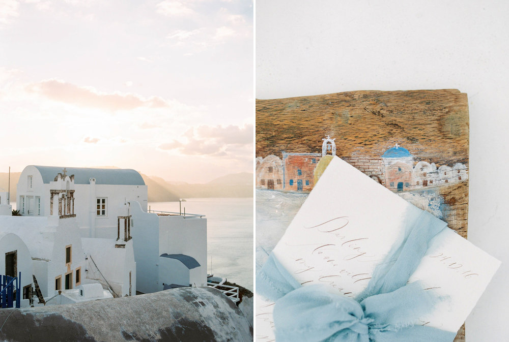 Organic Bridal Boudoir Inspiration in Santorini Greece