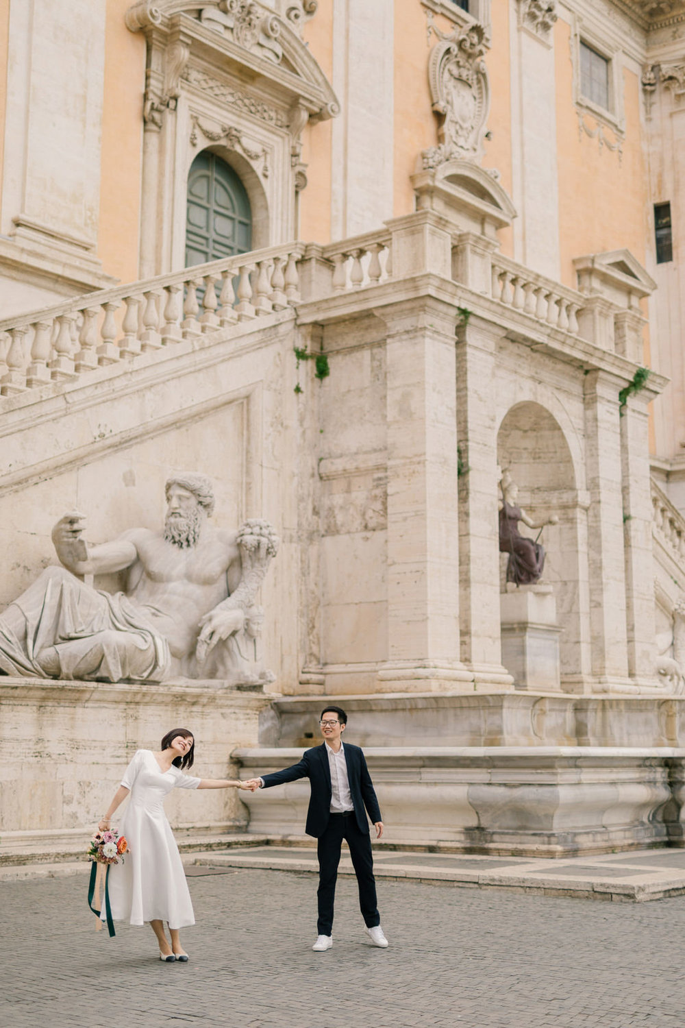 Engagement Session at Spanish Stair Rome. Photo by CHYMO & MORE