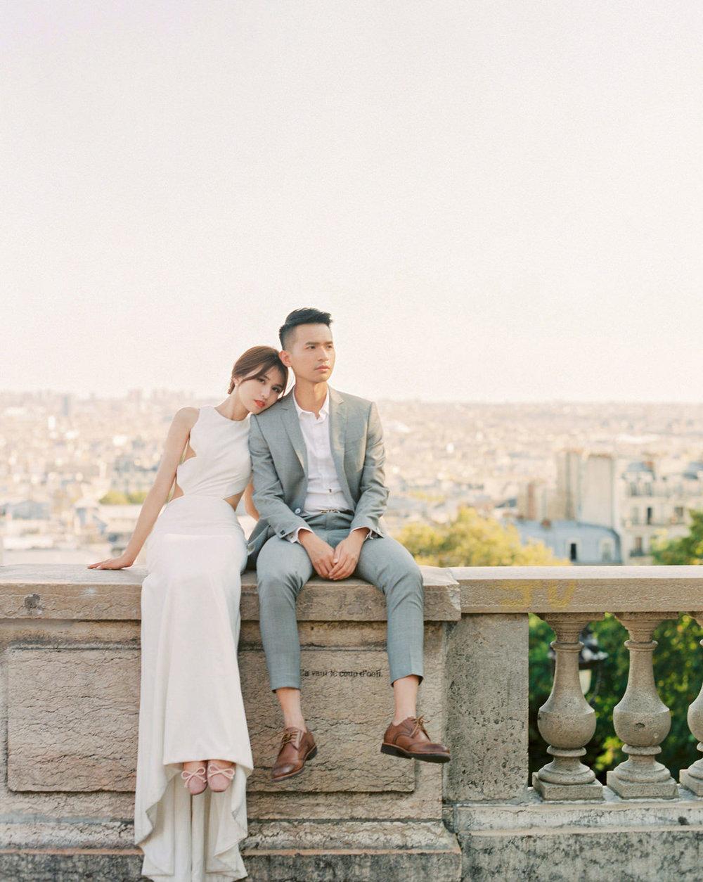 stylish parisian prewedding   paris, france