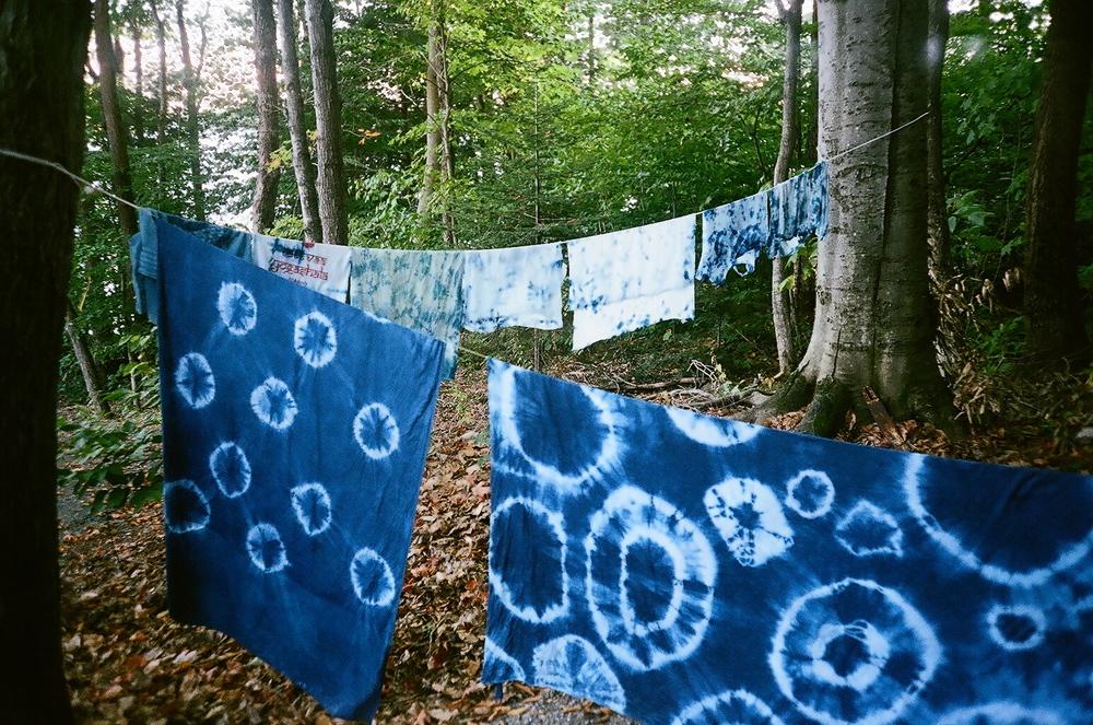Indigo Tie Dye Workshop - Led by retreat guest,Maxine.