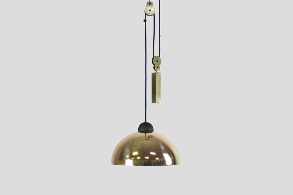Up-Down Pendant: Brass / Brass
