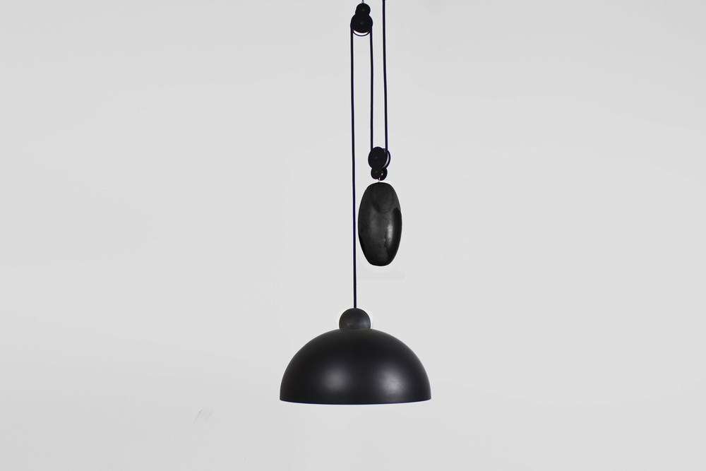Up-Down Pendant: Black Stone / Black