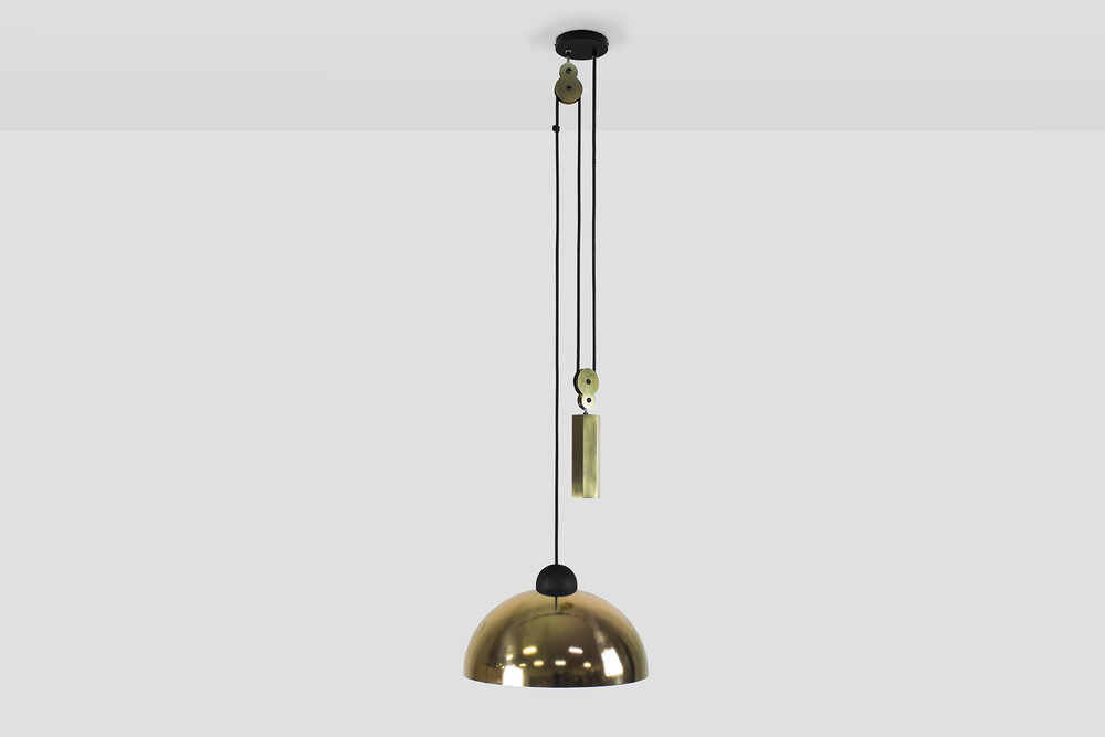 Up Down Pendant: Brass