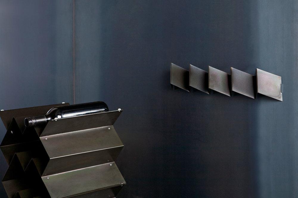 Fold coat rack and wine rack