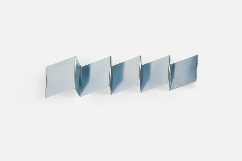 Fold coat rack in silver zinc
