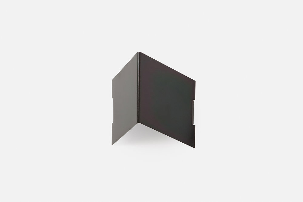 Single fold wall hook in black zinc