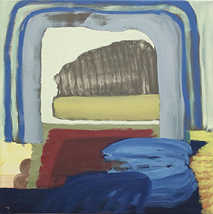 ohne Titel, Öl auf Leinwand, 60 x 60 cm