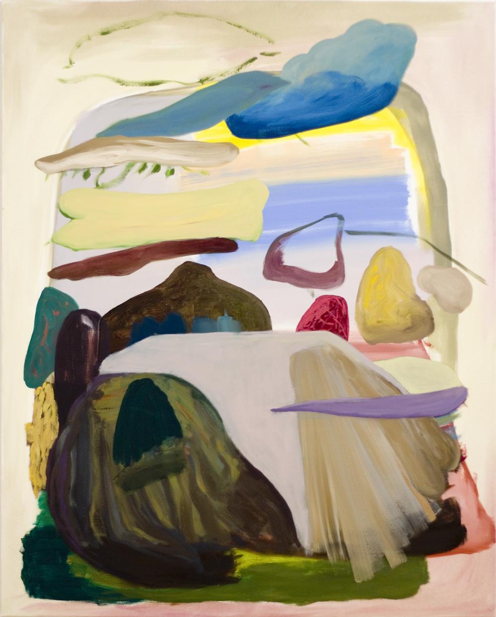 ohne Titel, Öl auf Leinwand, 150 x 120 cm