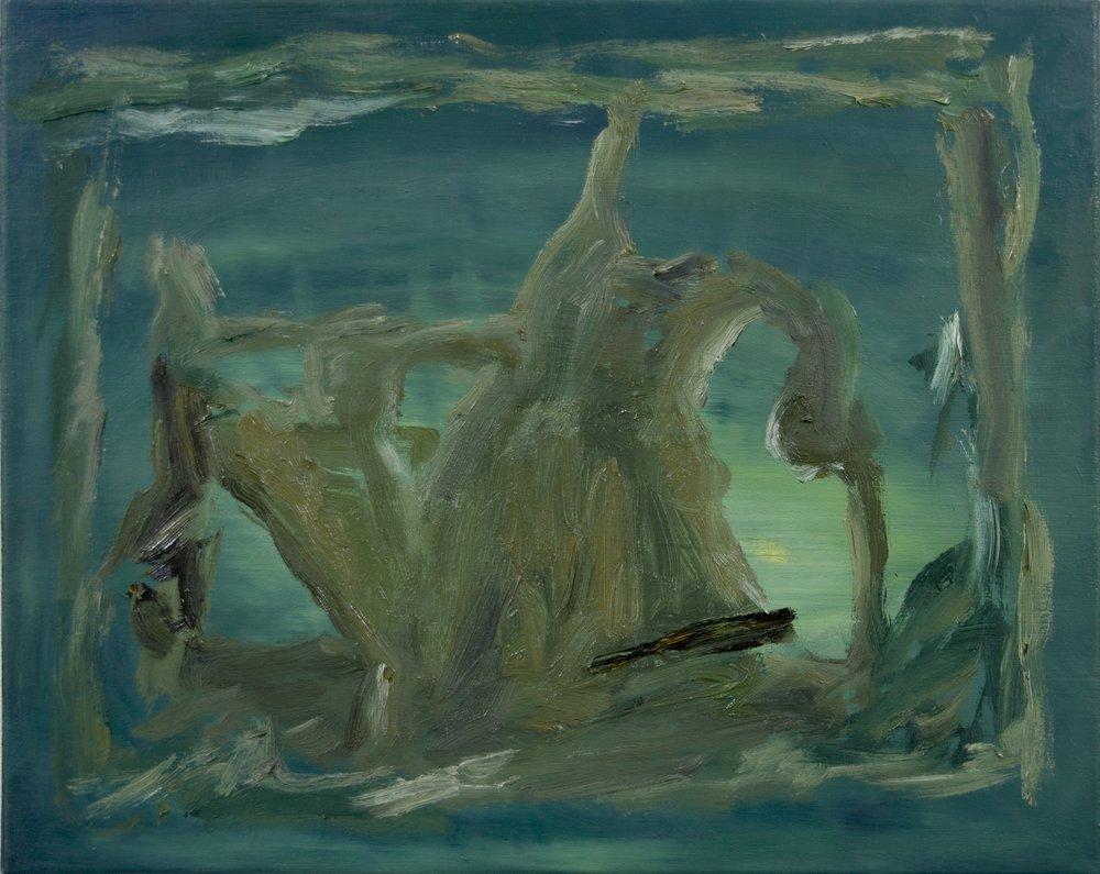 ohne Titel, Öl auf Leinwand, 40 x 50 cm