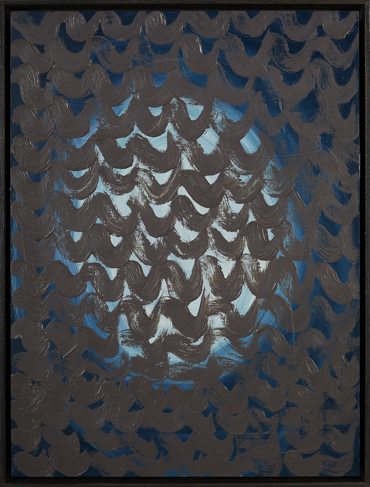 Ohne Titel, Öl auf Papier auf MDF, 40 x 30 cm