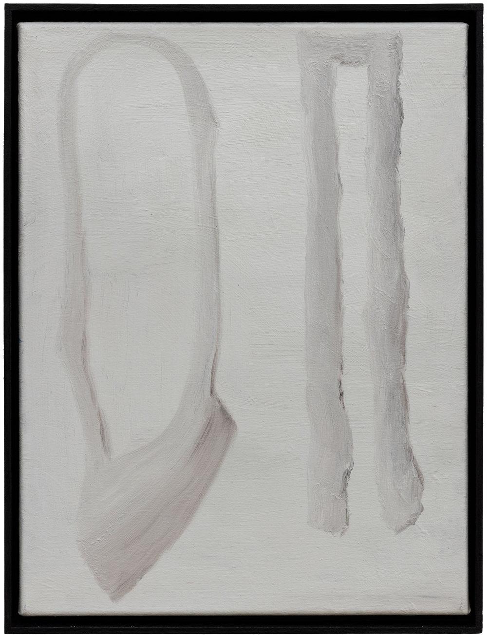Ohne Titel, Öl auf Papier auf MDF in Künstlerrahmen, 40 x 30 cm