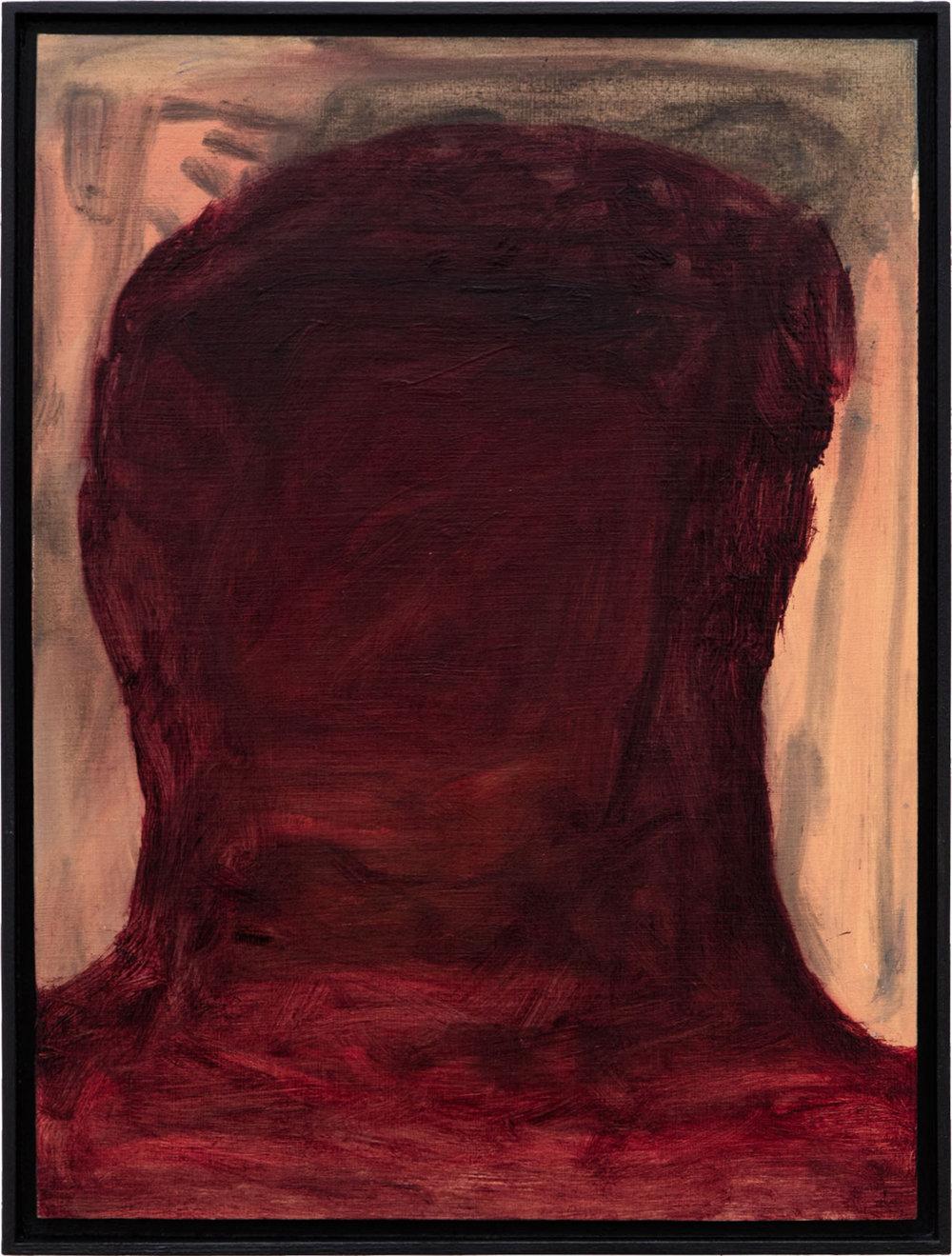 Ohne Titel, Öl auf Papier auf MDF in Künstlerrahmen, 39,6 x 29,6 cm