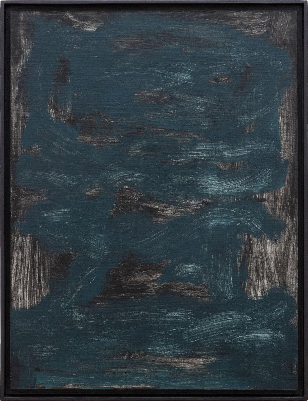 Ohne Titel, Öl auf Papier auf MDF in Künstlerrahmen, 39,7 x 29,8 cm