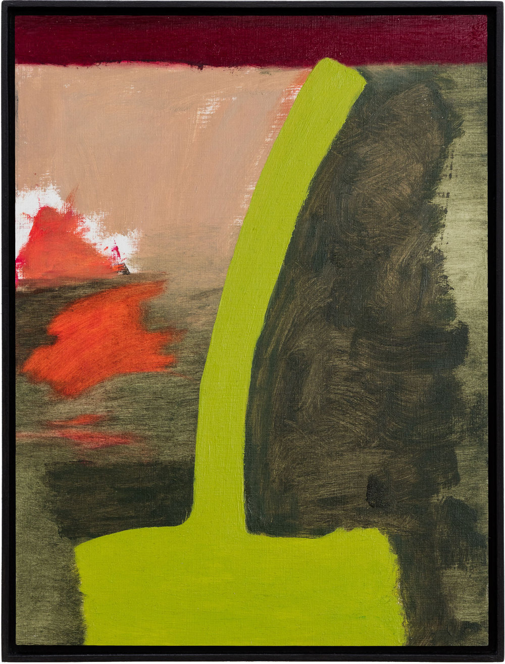 Ohne Titel, Öl auf Papier auf MDF in Künstlerrahmen, 39,8 x 29,7 cm