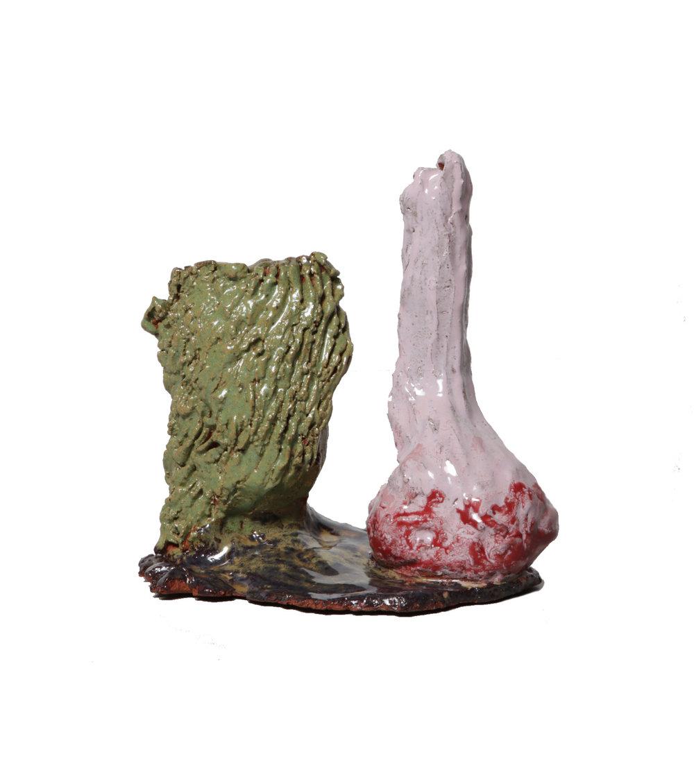 ohne Titel, glasierte Keramik, Höhe 18 cm