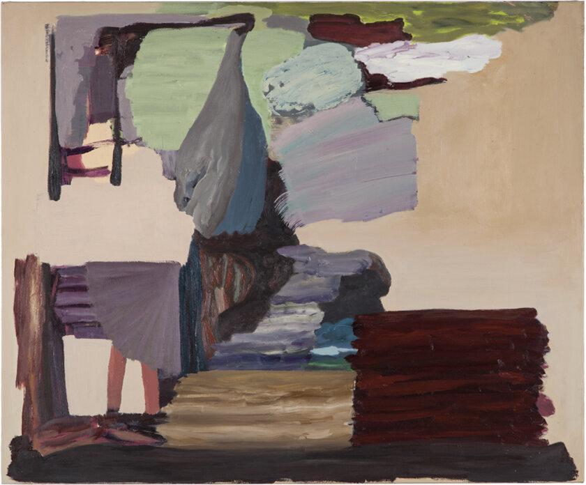 ohne Titel, Öl auf Leinwand, 100 x 120 cm