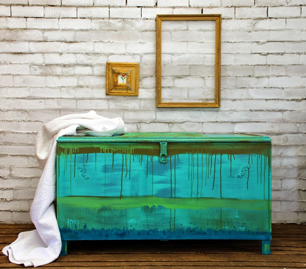 Beau Ford - Drip Painted Linen Chest