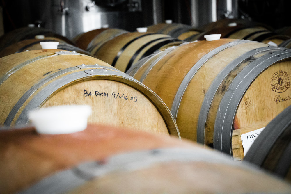 These barrels are marked with the date Esmé was put into them.