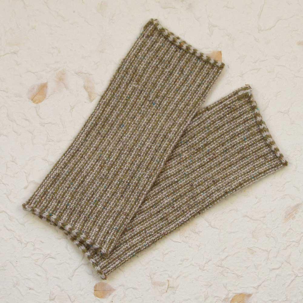 Susan-Holton-Knitwear-stripy-wrist-warmers-olive-close.jpg