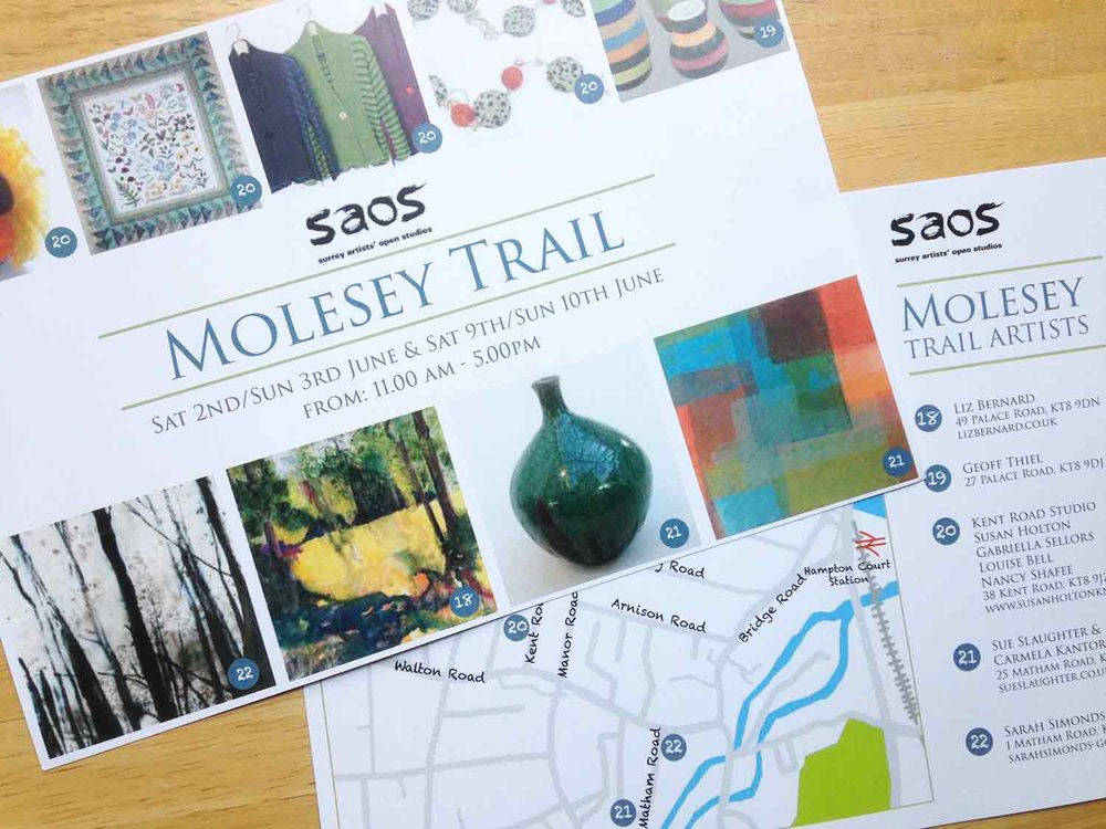 Kent Road Studio is part of the Molesey Trail... Kent Road Studio is:Susan Holton Knitwear, Nancy Shafee, Gabriella Sellors and Louise Bell