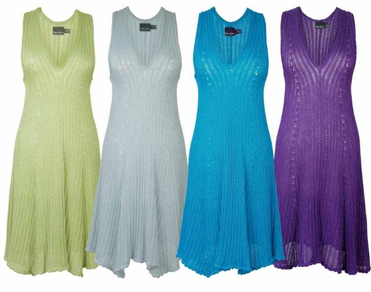 Fortuny-style-pleat-stitch-knit-dresses