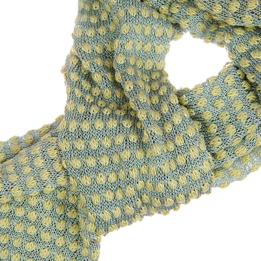 Hand dyed silk and viscose bobble scarf in silk and viscose from Susan Holton Knitwear