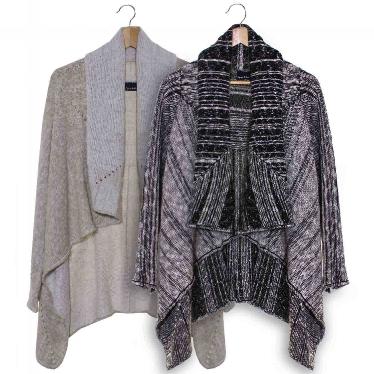 Swing wrap jacket in cotton and linen from Susan Holton Knitwear