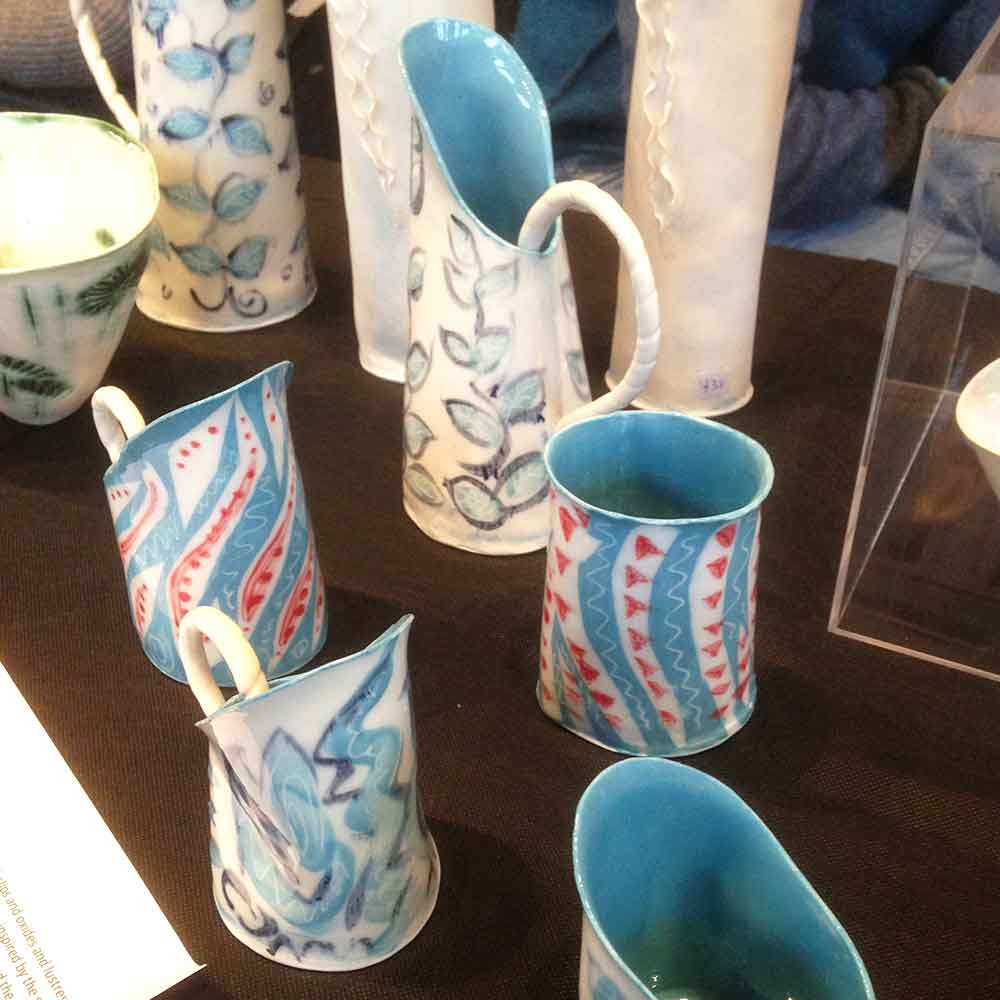 Ceramics by Jane Drown at 'Real Craft' at Charterhouse School