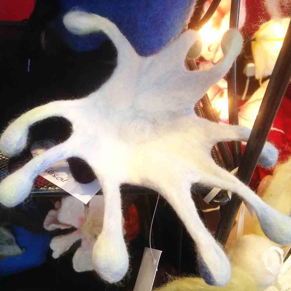 'The splash' in felt by Nancy Shafee of Flights of Fantasy at 'Real Craft' at Charterhouse School