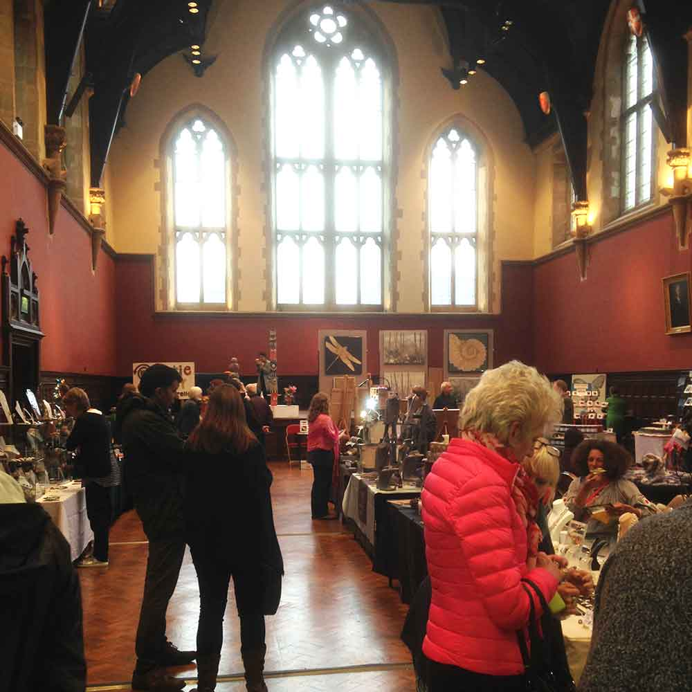 'Real Craft' just before we opened in the fabulous great hall at Charterhouse School
