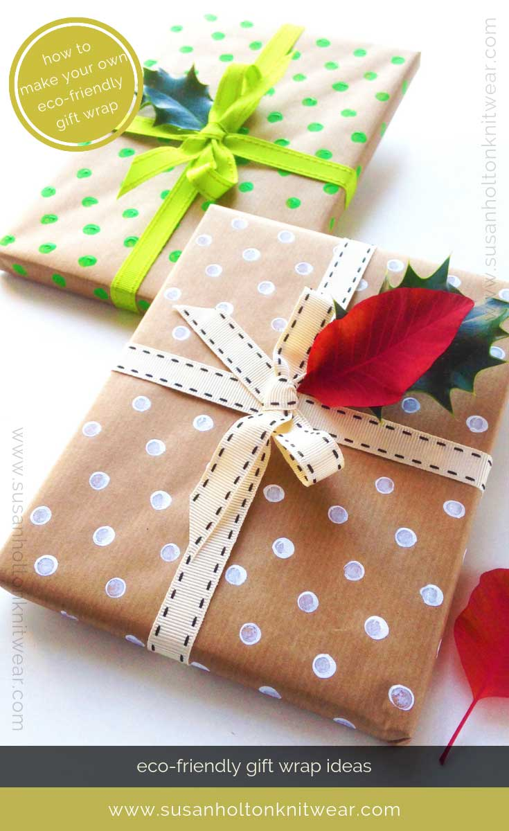 Unique, handmade, gift wrapping ideas that are also creative and eco-friendly, for you to use as alternatives to bought wrapping paper which can't be recycled in the UK. Stylish, fun and sustainable DIY ways to wrap your gifts for family and friends. #sustainable #eco #friendly #DIY #Christmas #gift #wrapping #wrap #ideas  Read more at https://www.susanholtonknitwear.com