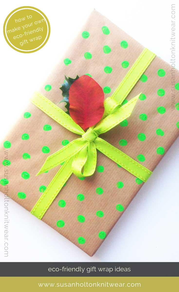 How to DIY your own stylish polkadot gift wrap - creative and eco-friendly. Fun and #sustainable easy ways to #wrap your gifts #eco #friendly #DIY #handmade #Christmas #gift #wrapping #ideas