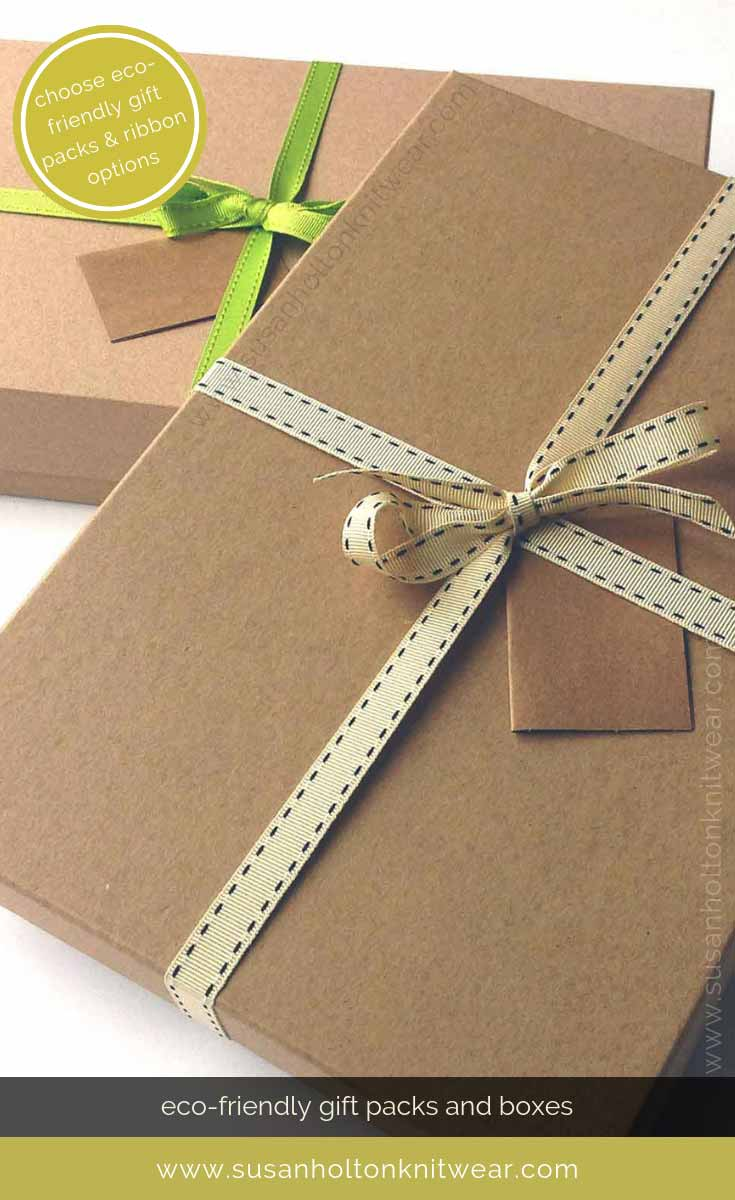 Add my stylish eco-friendly gift wrap to your order and send direct. Choose from 3 colours of ribbon. #Sustainable easy way to #wrap your gifts #eco #friendly #DIY #handmade #Christmas #gift #wrapping