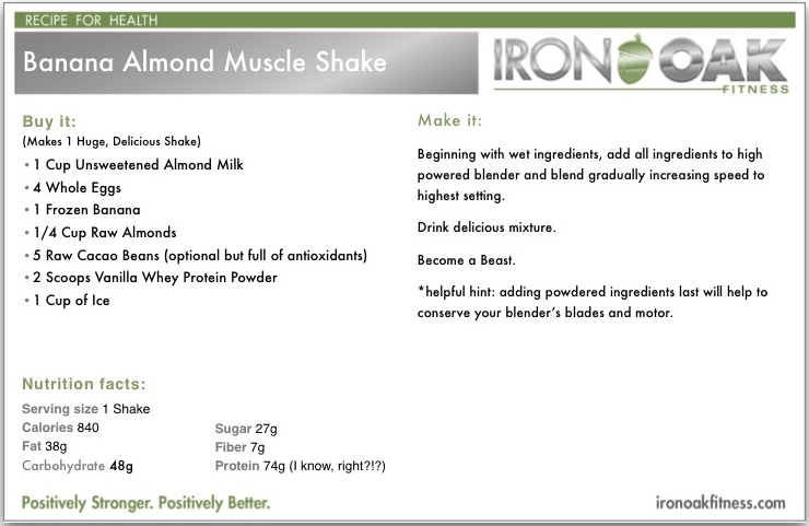 Banana_Almond_Shake_Recipes_Iron_Oak_FItness