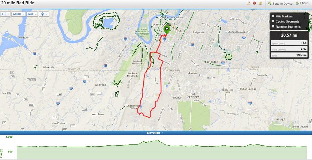20 Mile Wednesday Rad Route