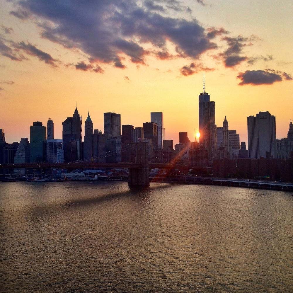 View of the Brooklyn Bridge from the Manhattan Bridge