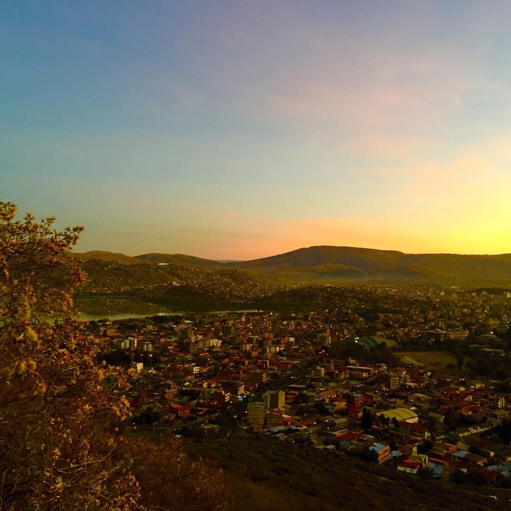 Vista dal Cristo della Concordia, Cochabamba- Bolivia