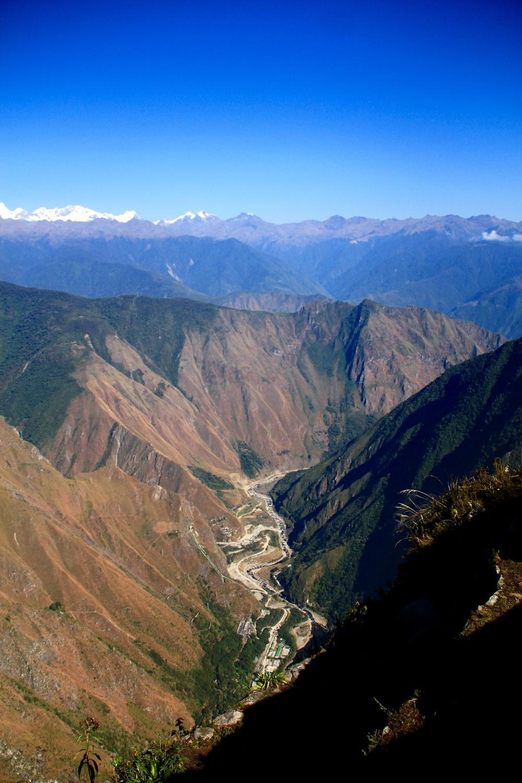 Vista dalla montagna Machu Picchu, Perù