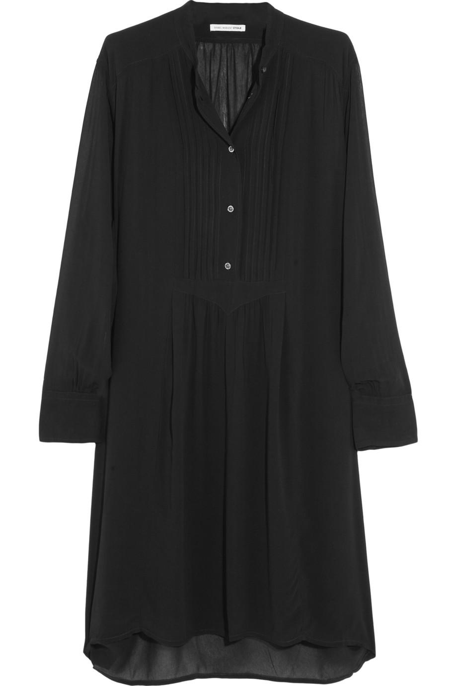ÉTOILE ISABEL MARANT Bray pleated georgette dress, $440,  net-a-porter.com