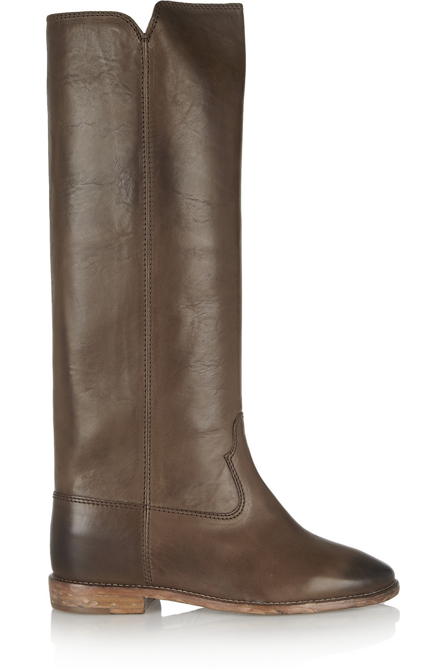 ISABEL MARANT Étoile Chess leather concealed wedge knee boots, $980,  net-a-porter.com