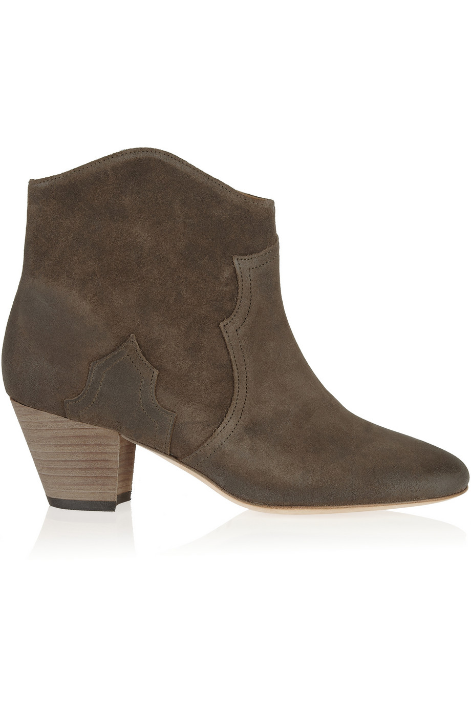 ISABEL MARANT The Dicker suede ankle boots, $650,  net-a-porter.com