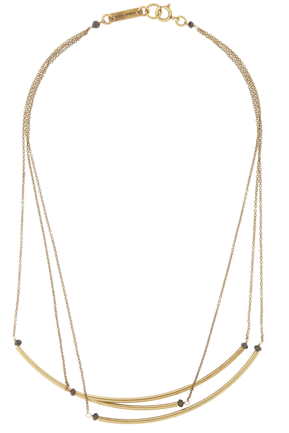 ISABEL MARANT Gold-tone and bead necklace, $180,  net-a-porter.com