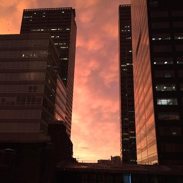 Cool sunset tonight