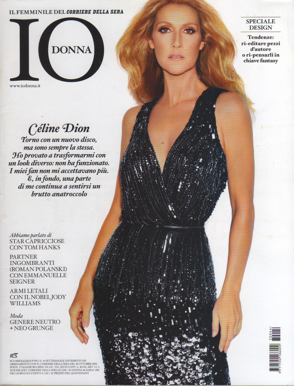 Io Donna, weekly supplement of Corriere della Sera newspaper, Italy October 2013